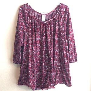 Faded Glory Women's plus 3X blouse